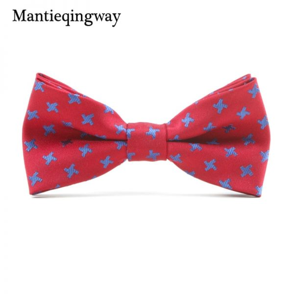Mantieqingway Casual Children Bow Tie Accessories Cartoon Bowtie Polyester Bow Tie for Boys Neck Wear Bowknot Christmas Bow Ties 5
