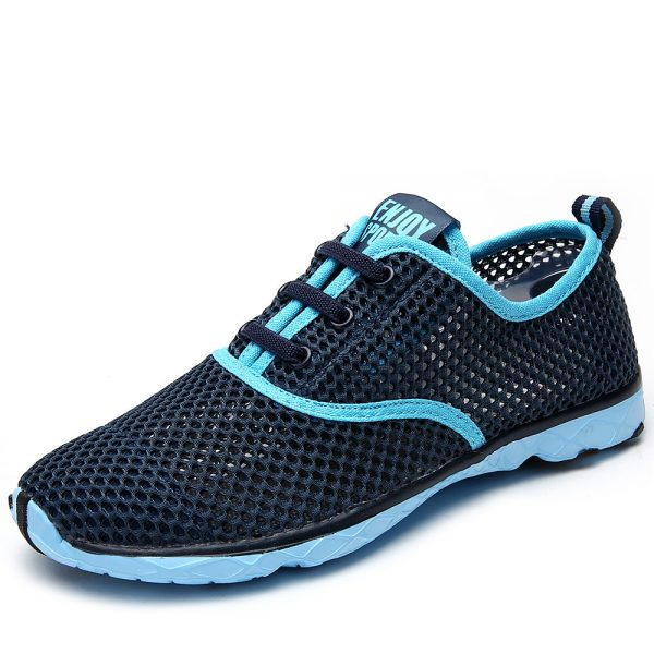 Plus Size Men Summer Running Shoes Women Sneakers 2017 Mesh Breathable Sport Shoes Men Beach Water Shoes Womens Trainers Socone 2