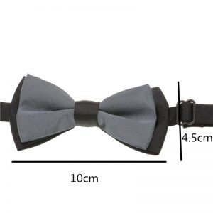 Classic Kid Suit Neckwear Baby Boy's Bowtie Fashion Solid Patched Color Adjustable Chlidren Two Tone Bow Tie 1