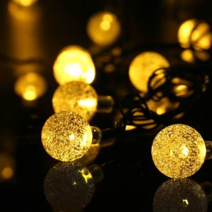 20ft 30 LED Crystal Ball Solar Powered lederTEK Brand Most Popular Globe Fairy Lights for Outdoor Garden Christmas Decoration 1
