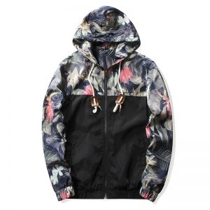 Grandwish Floral Bomber Jacket Men Hip Hop Slim Fit Flowers Pilot Bomber Jacket Coat Men's Hooded Jackets Plus Size 4XL , PA571 1