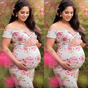Pregnant Women Vestidos Fashion Photography Props 2017 Bebes Women Maternity Photography Maxi Gown Extra Long Ankle-Length Dress 1