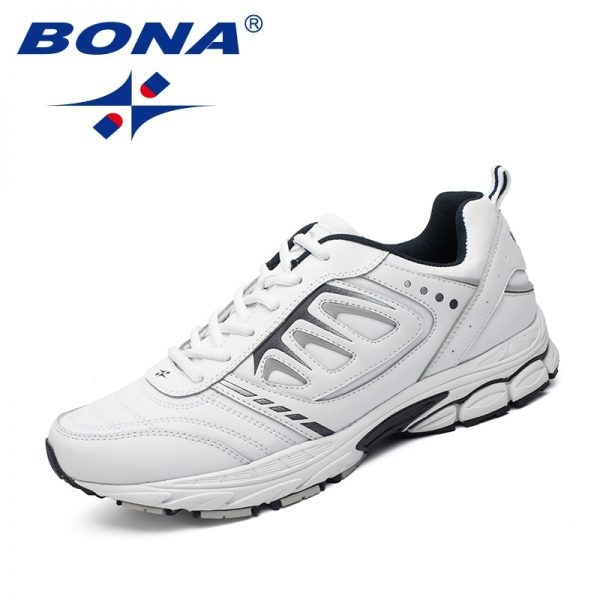 BONA New Style Men Running Shoes Ourdoor Jogging Trekking Sneakers Lace Up Athletic Shoes Comfortable Light Soft Free Shipping 1