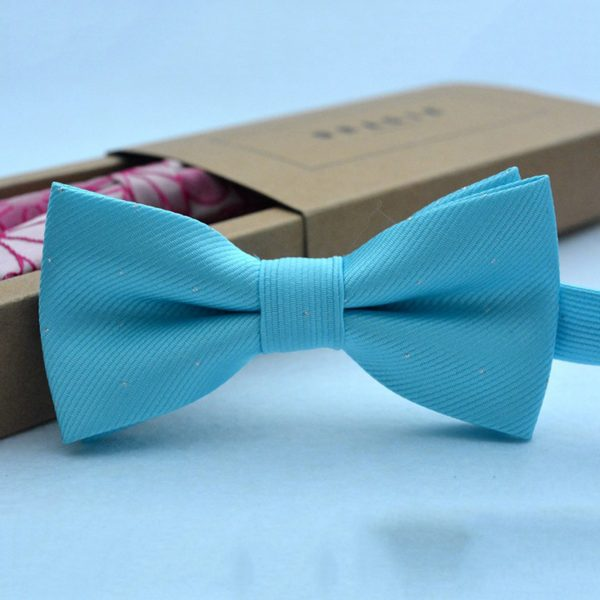 Brand new fashion popular butterfly gravata party bowtie wedding bow tie for boys girls candy color dot pattern bowknot 3