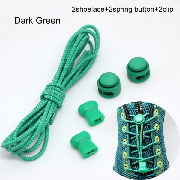 Stretching Lock lace 22 colors a pair Of Locking Shoe Laces Elastic Sneaker Shoelaces Shoestrings Running/Jogging/Triathlon 3
