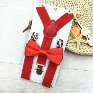 2018 New Kids Suspenders With Bowtie Bow Tie Set Matching Ties Outfits 13 Colors Adjustable and Elasticated Hot Suspender Sale 1