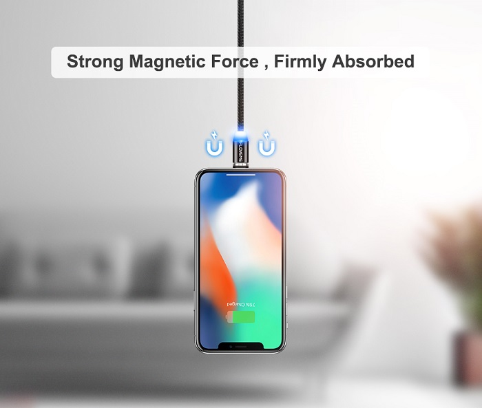 magnetic charger cable type c