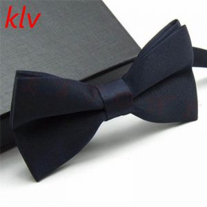 KLV New Boys Girls School Fashion Bow tie For Kids Bowtie Solid Candy Colorful Baby Butterfly Cravat Gravata 1