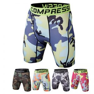 Summer Camouflag Running Shorts GYM Short Pants Quick-drying Stretch Football Trousers Jogging Compression Tights Fitness Men 1