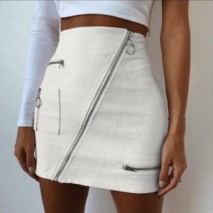 womens leather skirts sale