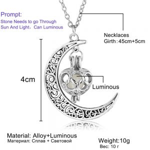 moon glow pendant necklace
