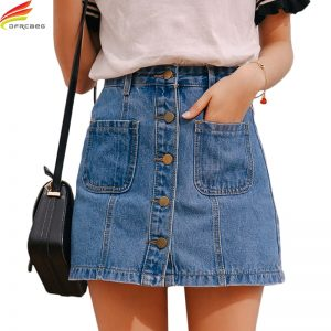 buy blue jean skirt