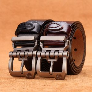 cowskin leather belt