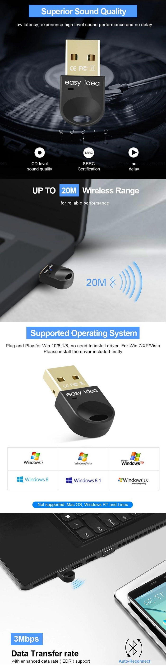best usb bluetooth adapter