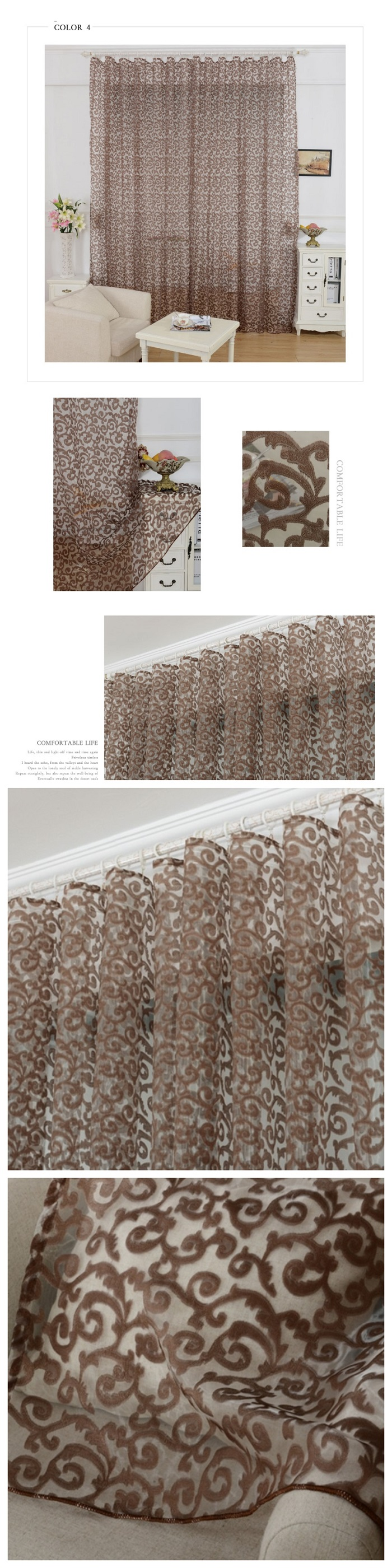 cheap tulle curtains