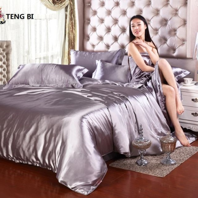 silk satin bed set