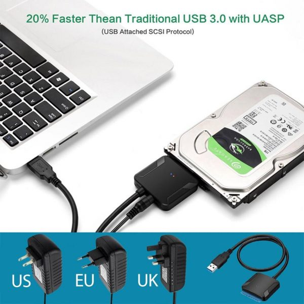 usb 3.0 to 2.5/3.5 hdd/ssd sata adaptor