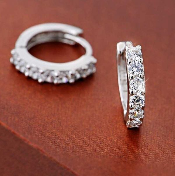 cheap round rhinestone earrings