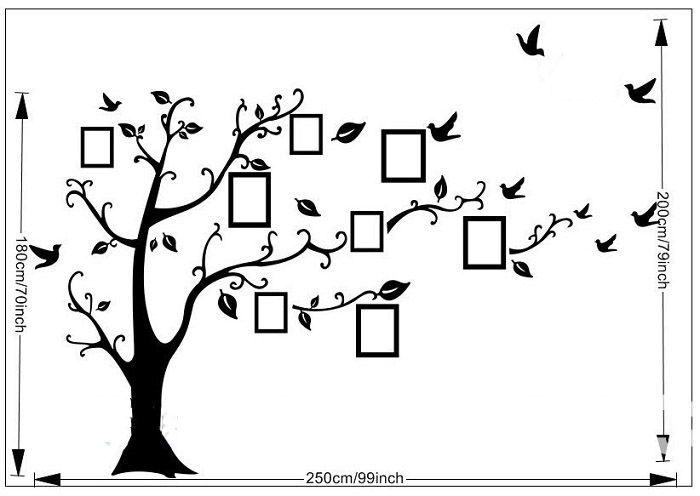 online family tree wall stickers