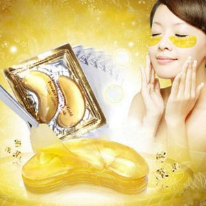 gold crystal eye mask