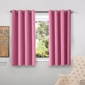 bright curtains for kitchen