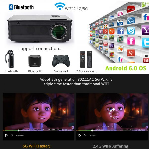 bluetooth projector for sale