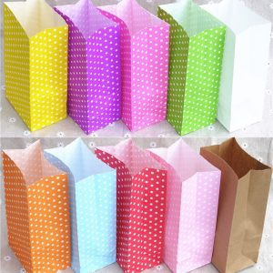 polka dot paper bags for sale