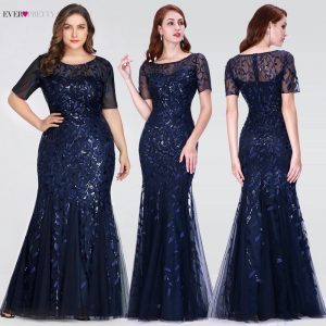 Plus Size Mother Of The Bride Dresses Ever Pretty Mermaid O-Neck Elegant Formal Dresses For Wedding Guests Vestido De Madrinha