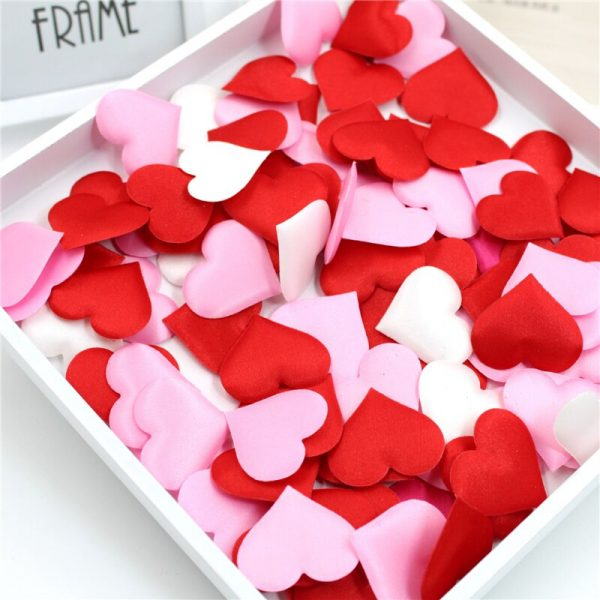 heart petals for valentines day