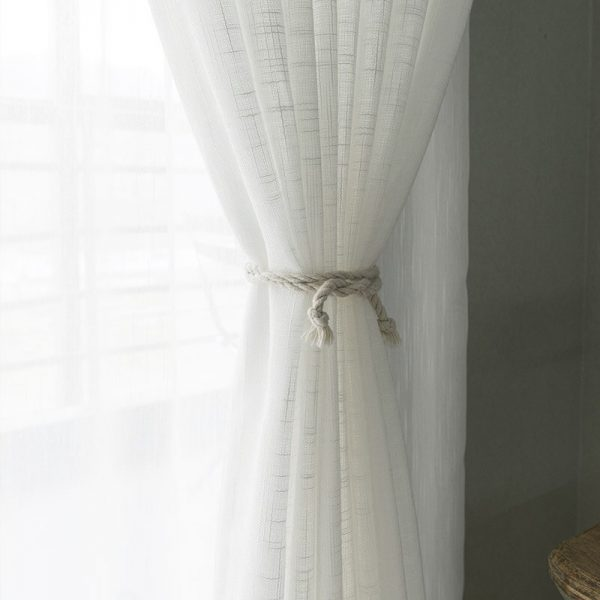 sheer curtains white
