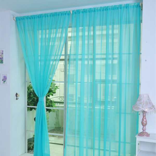 gauze curtains panels