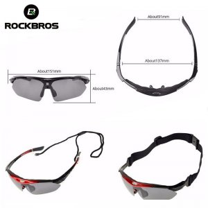 ROCKBROS Polarized Sports Men Sunglasses Road Cycling Glasses Mountain Bike Bicycle Riding Protection Goggles Eyewear 5 Lens 1