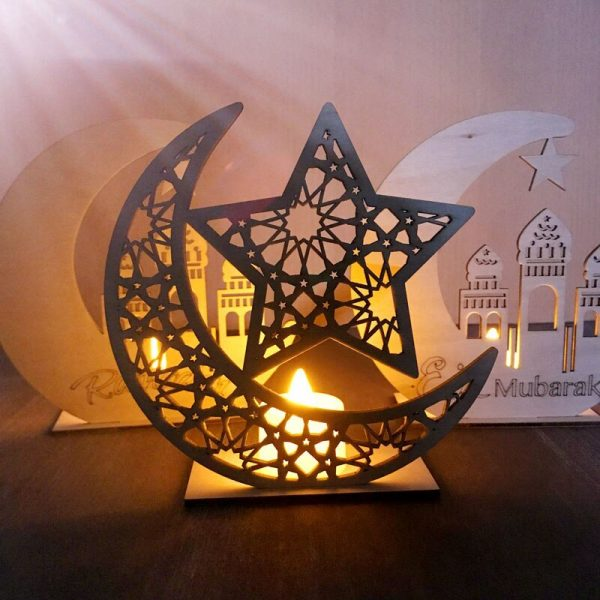wooden moon decor