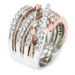 New Arrival Silver Rose Gold Zircon Stone Rings for Women Fashion Jewelry Engagement Wedding Ring 1