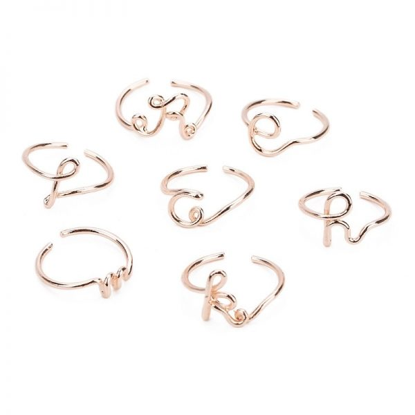 initial rings gold cheap