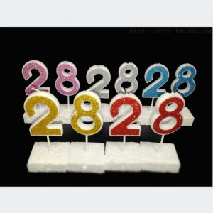 gold number candles