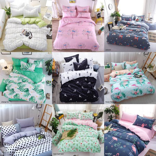 bed sheet with pillowcase