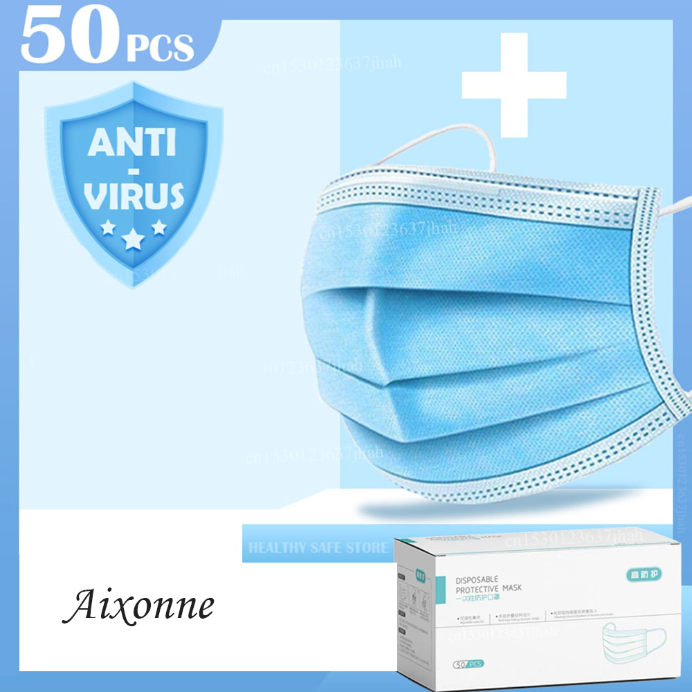 Disposable Face Mask, 3 Layers Dust Protection Face Mask, Medical Mask