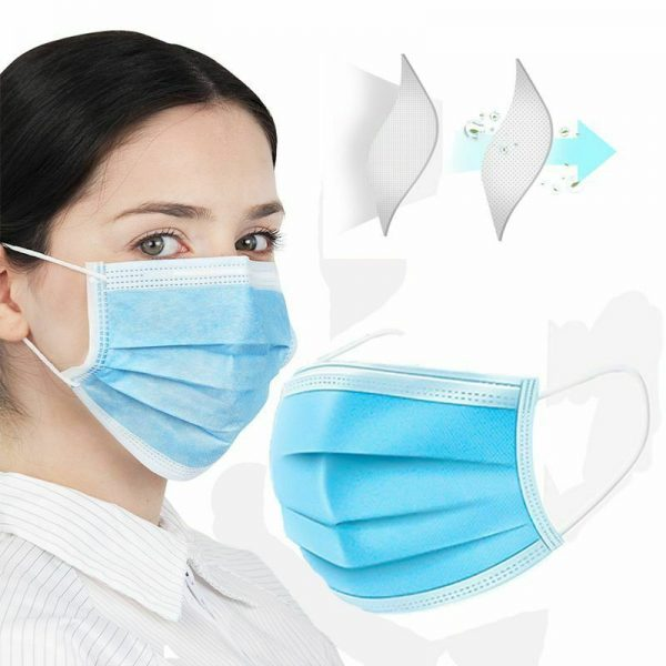 3 Layers Medical Face Mask, Disposable Anti-Dust Face Mouth Mask
