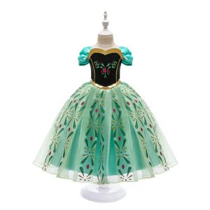 Anna Dress for Girl Cosplay Snow Queen Princess Costume Kids Halloween Clothes Children Birthday Carnival Fancy Party Disguise 2
